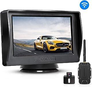 BOSCAM BOSCAM Rückfahrkamera und Monitor Set K1 Wireless Einparkhilfe mit 14.4 cm/4.3 Zoll LCD Farbdisplay Rear View Monitor und IP68 wasserdichte Kamera für Auto, Bus, Schulbus, Anhänger