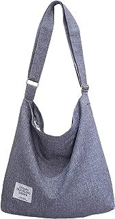Women's Retro Large Size Canvas Shoulder Bag Hobo Crossbody Handbag Casual Tote