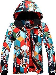 GsouSnow Men's Waterproof Windprooof Winter Hooded Ski Jackets Warm Snow Rain Outdoor Insulated Coat Snowboarding