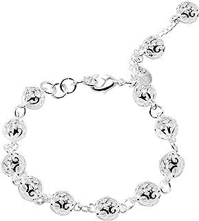 cca6fcf026ed Amazon.es: pulseras de bolas de plata: Joyería