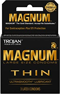Product Of Trojan, Magnum Thin Ultra Smooth Lubricant, Count 6 (3Pk) - Birth Control/ Grab Varieties & Flavors