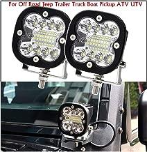 MFC 20W Car LED Light Bar - 3 Inch Spot Beam Lamp LED Work Light Super Bright Driving Fog Light with Mounting Bracket for Jeep Wrangler JK/JL/TJ Trailer Truck Boat Pickup ATV UTV (2 Pack)