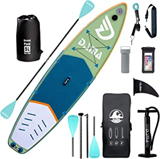 """DAMA Inflatable Stand Up Paddle Board 11'x33""""x6"""", Inflatable Yoga Board, Dry Bags, Camera Seat, Floating Paddle, Hand Pump..."""