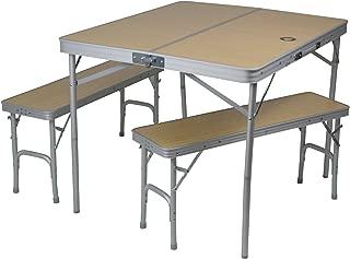 10T Portable Bench Mesa de Camping, Unisex, Plateado, Está