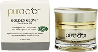 PURA D'OR Golden Glow Face Cream PM - Anti Aging Face Cream With Pure 24K Gold for Firmer Skin, Reduced Appearance of Wrin...