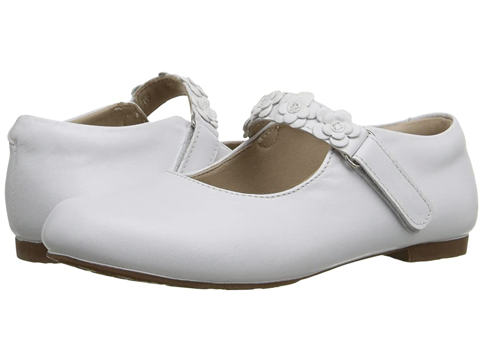 Elephantito Flower Mary Jane (Toddler/Little Kid) (White) Girls Shoes