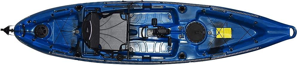 Riot Mako 12 Sit-on-Top Kayak with Impulse Pedal Drive, 12', Neptune Blue/Black