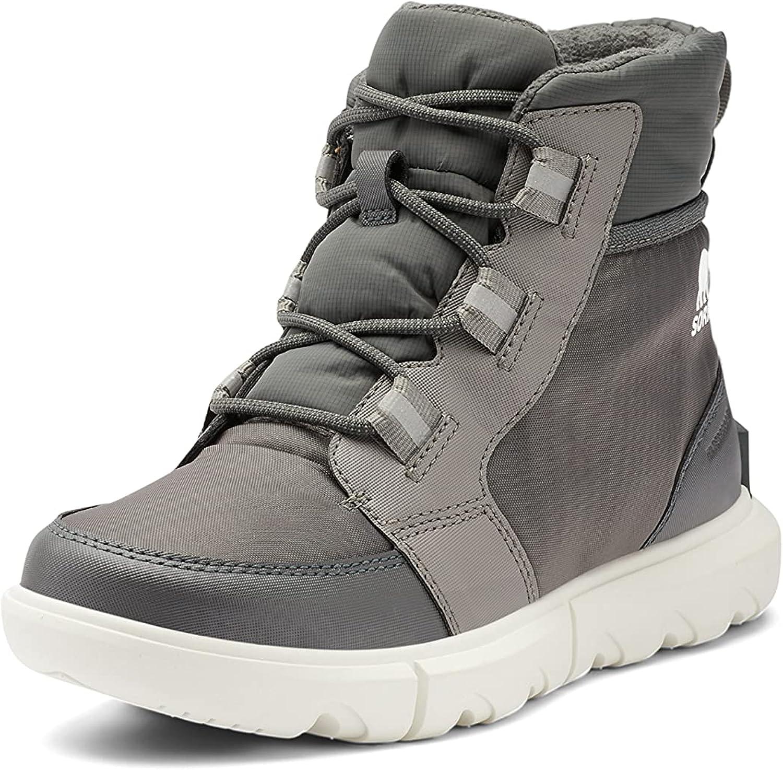 SOREL Women's Explorer II Carnival Boot — Quarry, Sea Salt — Waterproof Winter Boots — Size 9