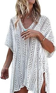 YOGINGO Women Swimsuit Cover Up Bikini Beach Swimwear Coverups Knitted Tassel Bathing Crochet Dress Summer