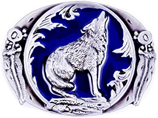 Belt Buckles Hunting Stlyes Wolf Howl Designs 3 colors