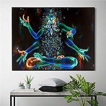 ganlanshu Pintura sin Marco Cartel Abstracto Surrealista Lienzo decoración de Arte para Sala de Estar decoración del hogar pinturaZGQ3880 30X45cm