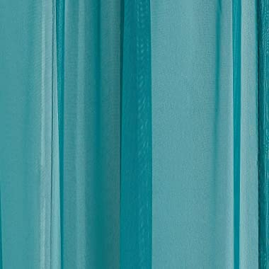 Warm Home Designs Extra Long Green Teal Sheer Window Scarf. Valance Scarves are 56 X 216 Inches in Size. Great As Window Treatments, Bed Canopy Or for Decorative Project. AM Teal 216""