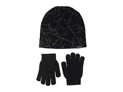 Columbia Kids Hat Glove Set II (Little Kids) (Black Fractile Ice) Beanies