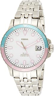 Fossil FB-01 Women's White Dial Stainless Steel Analog Watch - ES4741