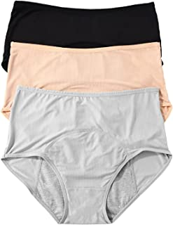 Libsofter Womens Protective Panties, Breathable Soft Leakproof Underwear, Menstrual Period Brief 3 Pack