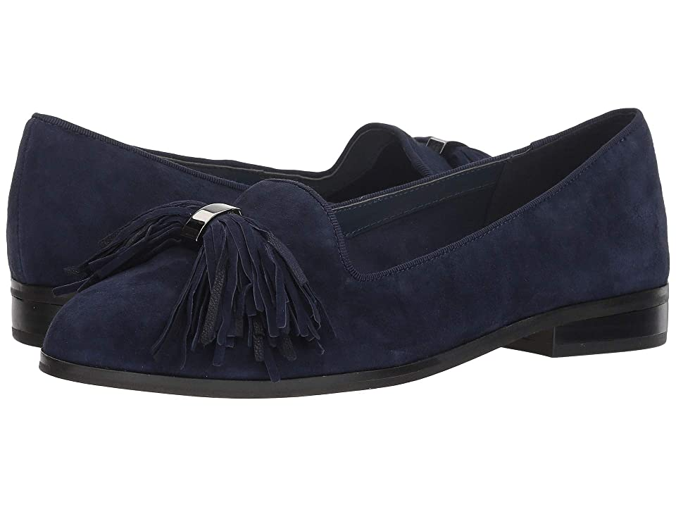 Anne Klein Dixie Flat (Navy Suede) Women