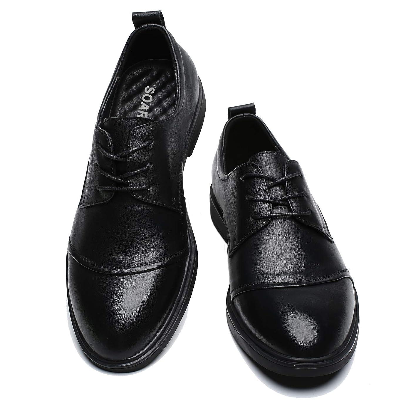 着替えるショルダー事実上[SOARHOPE] 走れる ビジネスシューズ 革靴 メンズ 本革 軽量 ビジネス スニーカー 走れる 革靴 歩きやすい革靴 黑 3E