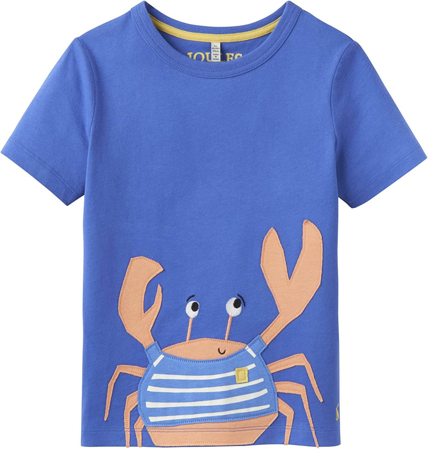 Joules Applique Jersey Top - Dazzling Blue Crab - 1 Year - 80 cm