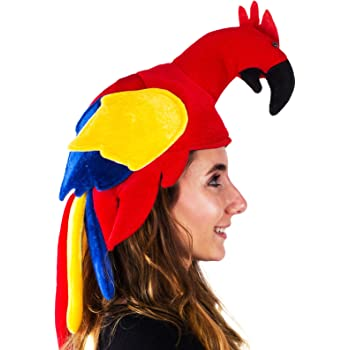 Tigerdoe Parrot Hat - Parrot Hats Jimmy Buffet - Novelty Hat - Parrot Head Hat - Animal Hat - Bird Costume Hat