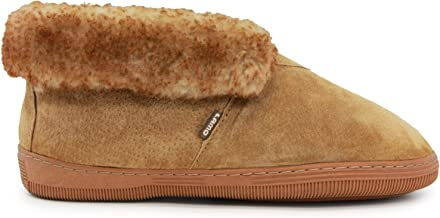 Lamo Men's Bootie Shoe, Suede, Chestnut