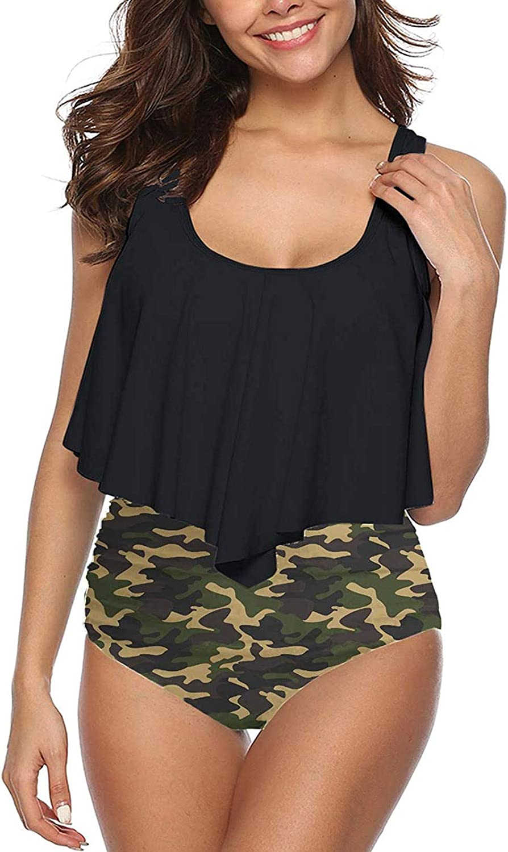 Plus Size Oakland Mall Bikini Swimsuits for Women Suits Piece Two Ru Latest item Bathing