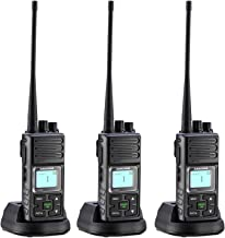 2 Way Radios Rechargable, 20 Channel UHF 400-470MHz Two- Way Radios Long Range with Group Talk and LCD Display (Black,Pack of 3)