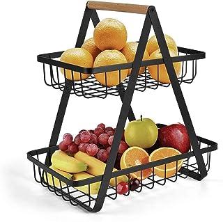 MCE 2 tier fruitschaal fruit mand opslag plantaardige rack brood display stand voor keuken creatieve salontafel decoratie