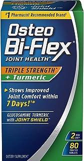Osteo Bi-Flex Triple Strength + Turmeric, 80 Count (Pack of 2)