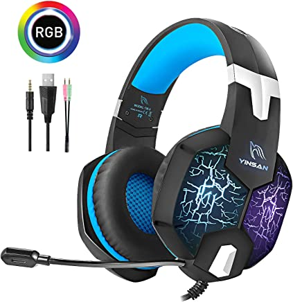 Cuffie Gaming PC, YINSAN Cuffie da Gioco con 7 RGB LED Luce e Microfono HD, Audio Cavo 3.5mm con Riduzione del Rumore, Gaming Headset Multi-Platform per PS4 Xbox One Nintendo Switch PC Laptop Mac - Trova i prezzi più bassi