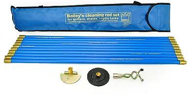 Bailey 5431 - Set de limpieza de tuberías (3 piezas, en estuche)