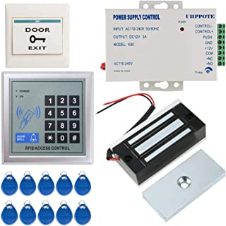 UHPPOTE Full Complete 125KHz EM-ID Card 1 Door Security Access Control Entry System Kit with Electric 120Lbs Magnetic Lock