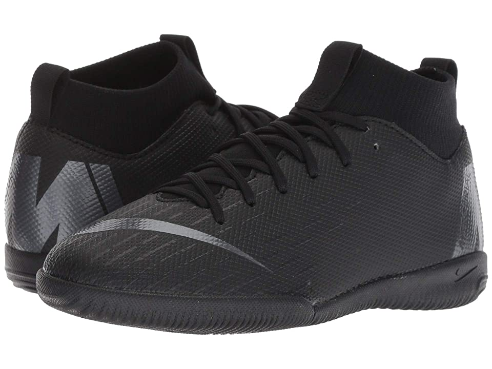 Nike Kids SuperflyX 6 Academy IC Soccer (Little Kid/Big Kid) (Black/Anthracite/Black/Light Crimson) Kids Shoes