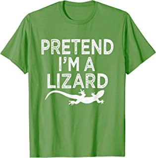 Funny Easy Halloween Costume Pretend I'm A Lizard Gift T-Shirt