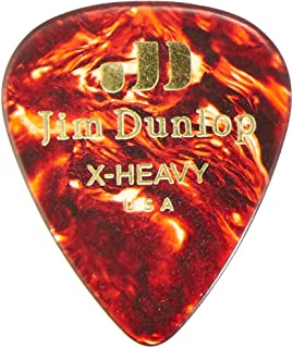 Dunlop 483P05XH Genuine Celluloid, Shell, Extra Heavy, 12/Player's Pack