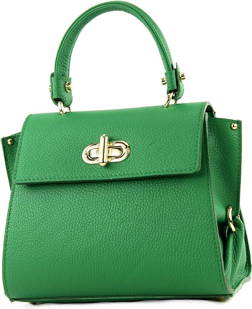 modamoda de, piccola borsa da donna, in pelle t182blattgn_afn