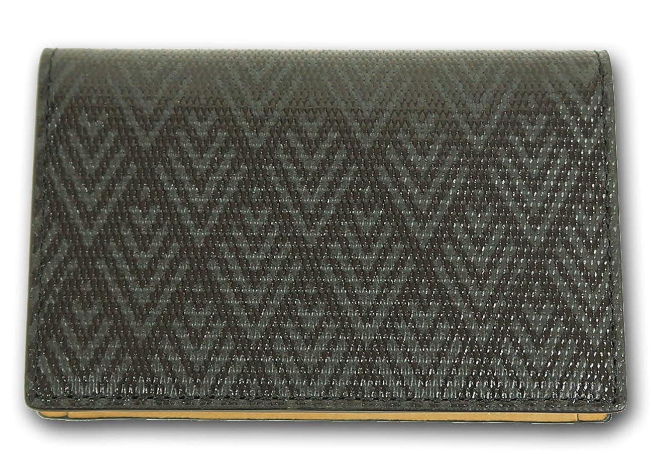 サーカス発生する慈善(タケオキクチ) TAKEO KIKUCHI ミニメッシュ 牛革 名刺入れ メンズ ブラック 黒 カードケース