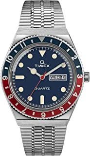38 mm Q Timex Reissue Stainless Steel Case Blue Dial Stainless Steel Bracelet