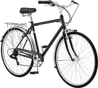 Schwinn Wayfarer Adult Hybrid Bike Retro-Styled Cruiser, Step-Through and Step-Over Steel Frame, 7-Speed Drivetrain, Rear ...