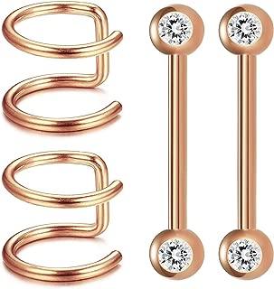 Best fake nipple piercing magnetic barbell Reviews