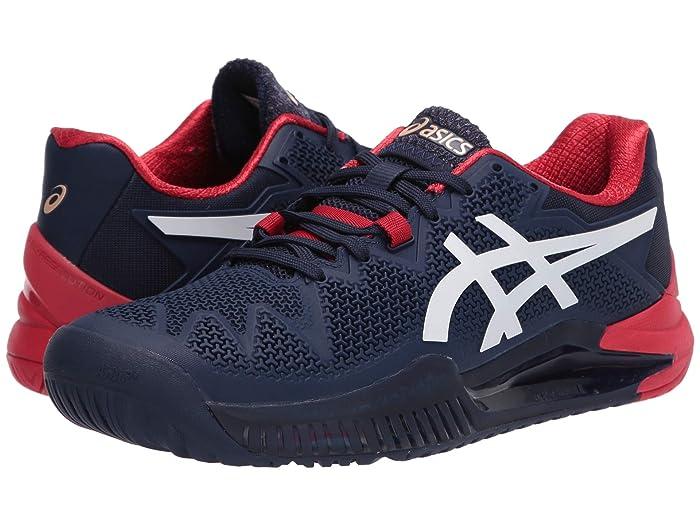 ASICS  Gel-Resolution 8 (Peacoat/White) Mens Tennis Shoes
