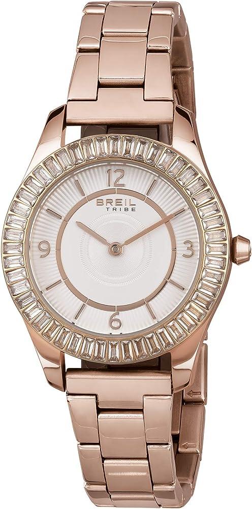 Breil meghan orologio da donna in acciaio ip rose lunetta impreziosita da cristalli EW0465