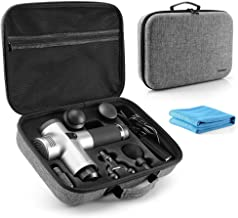 Tombert Carrying Case for Hyperice Hypervolt, 2019 5 Attachment Slots, Portable Storage Box, Hard Shell Case for Hyperice Hypervolt Portable Massage Gun(Case Only)