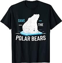 Save Polar Bears Shirt Animal Vintage Retro Gift Tee
