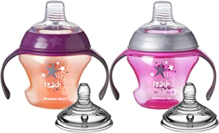 Tommee Tippee Closer to Nature First Sips Transition Cup, BPA-Free, 4+ Months,