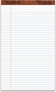 Tops 7573 Perforated Everyday Writing Legal Pad, 8.5 x 14 Inch, White, 12 Count (Pack of 1)