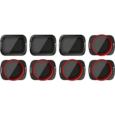 Freewell All Day – 4K Series – 8Pack ND4, ND8, ND16, CPL, ND8/PL, ND16/PL, ND32/PL, ND64/PL Camera Lens Filters for Osmo Pocket, Pocket 2
