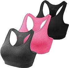 HBselect 3 Pack Comfort Sport Bras voor Vrouwen UK met Verwijderbare Bra Pads, Draadloze Naadloze Plus Size Slaap BH voor ...