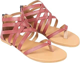 BK Deal Women's Fashion Flat Sandals Colour(Baby Pink-KB-038)