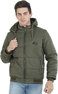 Xohy Regular Fit Nylon Full Zipper Detachable Hooded Jacket for Men