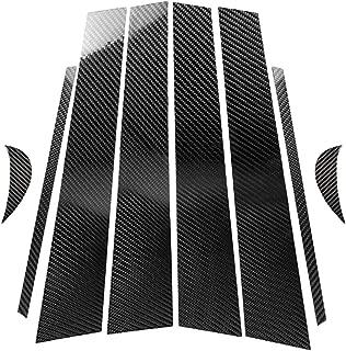 hors Carbon Fiber Door Window B+C Pillar Post Panel Frame Decal Cover Trim for Toyota Camry 2018+